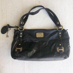 Fossil Black Leather Purse Bag